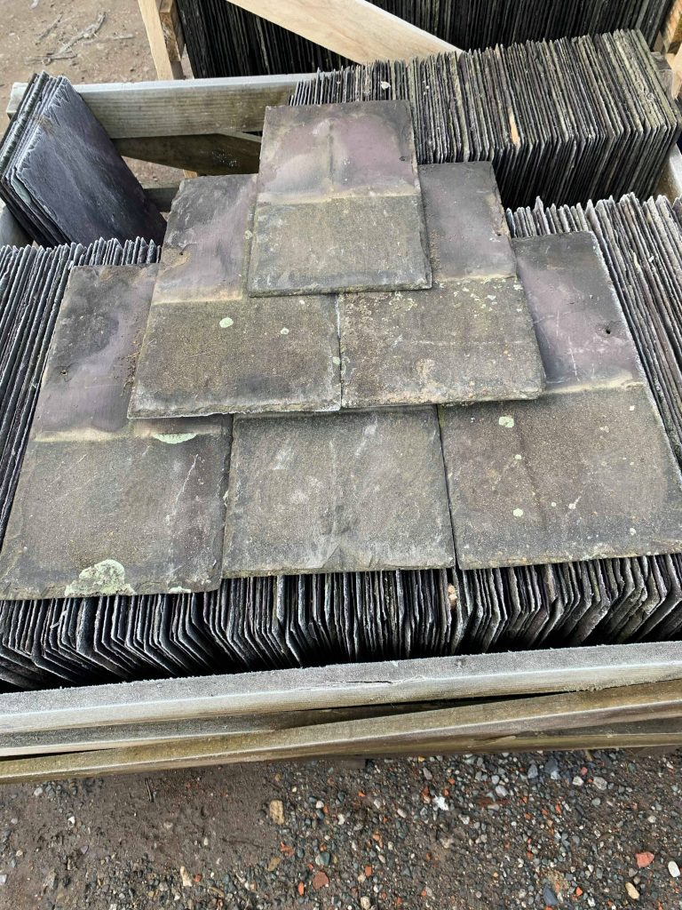 Reclaimed Welsh Slate Purple Penrhyn