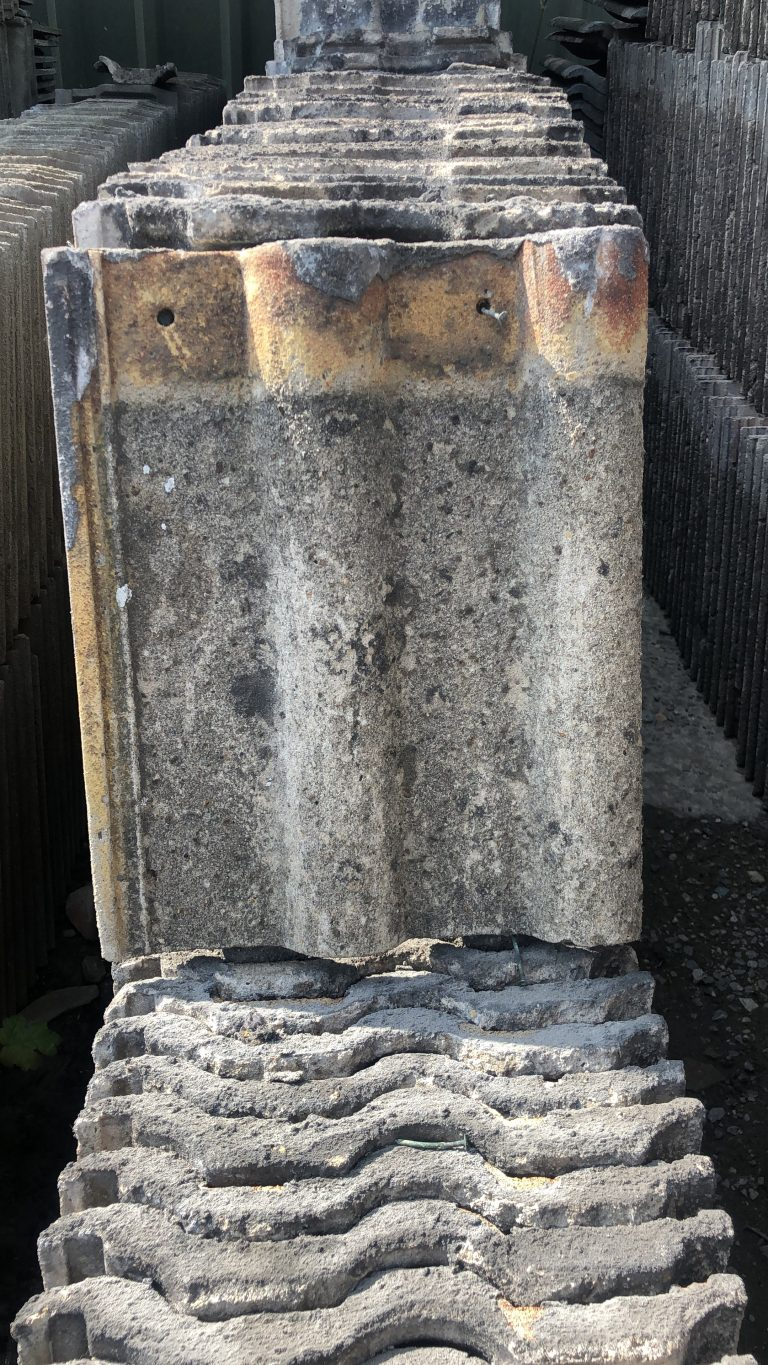 reclaimed concrete double roman roof tiles - reclaimed lofthouse roofing supplies