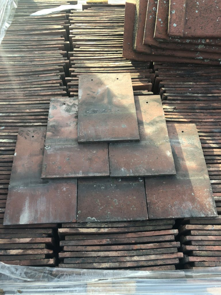 reclaimed nostal machine made roof tiles - reclaimed lofthouse roofing supplies